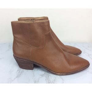 Madewell Leather Charley Bootie NEW